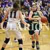 Lucas Whitten/Daily Clarion Archive<br /> Madison Frederick cuts to the basket earlier this season at Vincennes Rivet High School.
