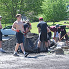Quiche Matchen/ Daily Clarion <br /> Gibson Southern High School seniors spread mulch and pull weeds at Montgomery Park in Owensville Tuesday morning, during the annual Youth Day of Caring.