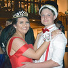 Daily Clarion/Quiche Matchen<br /> Wood Memorial High School prom queen Aleah Moore and king Remington Wilkison dance following coronation at Saturday's event at Bauer's Grove.
