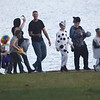 Quiche Matchen/ Daily Clarion<br /> Halloween Spooktacular attendees walk through the campground to trick-or-treat.