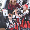 Quiche Matchen/Daily Clarion<br /> Heather Pohl and her children Halle, Isabel, Maddox  dressed up as pirates for the annual Truck-or-Treat event hosted by Vertical Church in Fort Branch<br /> .
