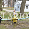 Sarah Loesch/Daily Clarion Brayden Campbell, Lilly Campbell and Laithen Campbell play on the see-saw Friday afternoon at Fort Branch Community Park. The three were spending some time outdoors on their last day of spring break from Sts. Peter and Paul.