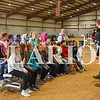 Sarah Loesch/Daily Clarion Fourth graders from Owensville Community School listen to a presentation from Consolidated Grain & Barge Wednesday morning at the Gibson County Fairgrounds.