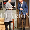 Madison Brooks/Daily Clarion Melissa Henning as Charlotte Hay and Chris MacKay as Howard at dress rehersal on Tuesday evening.