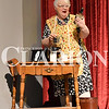 """Madison Brooks/Daily Clarion Jill Wright as character Ethel in """"Moon Over Buffalo"""" at dress rehersal Tuesday evening at the Princeton Theatre."""