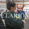 Sarah Loesch/Daily Clarion Colton Sheehe and his mom Kim Sheehee await the start of the 19th annual Gibson County Beef Preview show Saturday afternoon. The preview is a two-day event at the Gibson County Fairground. The heifer show took place Saturday and the steer show starts at 9 a.m. Sunday.