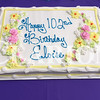 Sarah Loesch/Daily Clarion Eloise Beauchamp celebrated her 102 birthday Wednesday afternoon at the Good Samaritan Home and Rehabilitation Center in Oakland City. Beauchamp decided on a piece of chocolate cake for her slice.