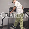 Don Feathers comes to the Gibson County Senior Center to exercise three days a week. He's been exercising at the facility for three to four months to keep his heart and oxygen rate up.