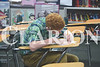 Wood Memorial student Luke Schenks competes in the seventh grade spelling competition Saturday afternoon.