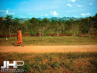 """A Monk On The Road"", Thailand, 2004 Print TH11117-057V4"