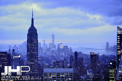 """NYC Southward Skyline #3"", NYC, 2013 Print NYC2-0645"