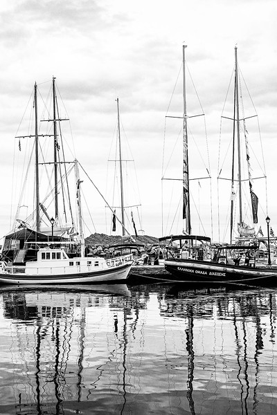 Boats in Paros - Dorothy Sansom - Second Place