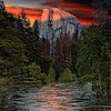 Pictorial  Half Dome at Dusk by Larry Headley  Honorable Mention