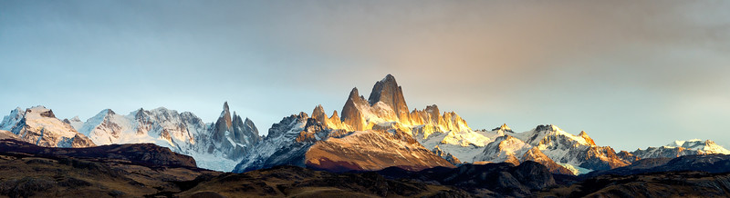 Fitz Roy Massif Sunrise Pano