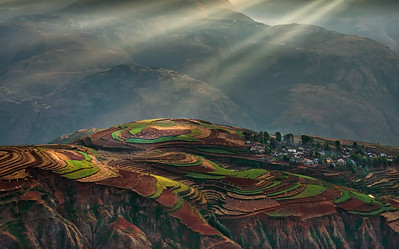 Dongchuan Red Land Area, Yunnan Province, China