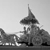 L1458 Krishna and Arjuna in Chariot, Swaragashram, Rishikesh