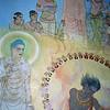 L09672 Mural of Buddha's life in Mulagandhakuti Vihara building, Dhamek Stupa site, Sarnath, Varanasi