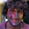 L1435 'Color' is spread liberally during Holi. Rishikesh