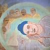 L0975 Mural of Buddha's life in Mulagandhakuti Vihara building, Dhamek Stupa site, Sarnath, Varanasi