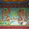 L2744 Wall paintings, Tibetan Monastery, Bodh Gaya