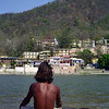 L0996 Meditator on Ganges, Rishikesh