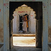 L1940 Sadhu at the door, Chitrakut