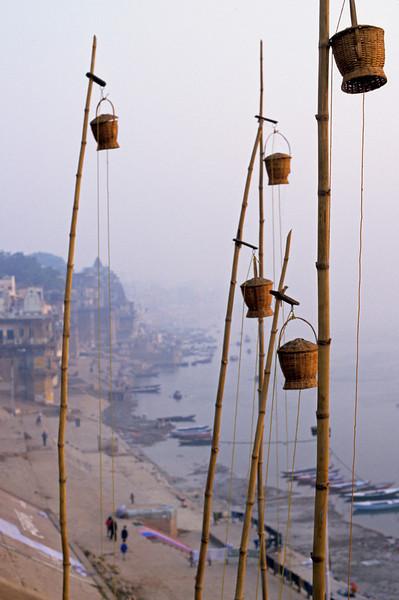 L1239 Ganges water pots at Benares