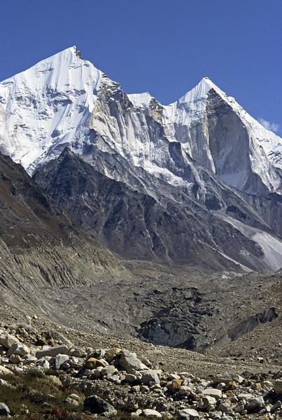 L1196 Bhagirathi Parbat 1-2-3 above glacier at Gomuk, source of the Ganges