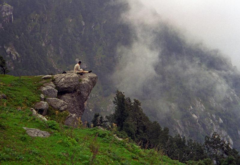 L0954 Hiker above Dharamsala