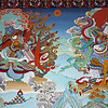 L1658 Wall paintings, Tibetan Monastery, Bodh Gaya