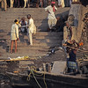 L1564 Cremation at Manikarnika Ghat, Benares.