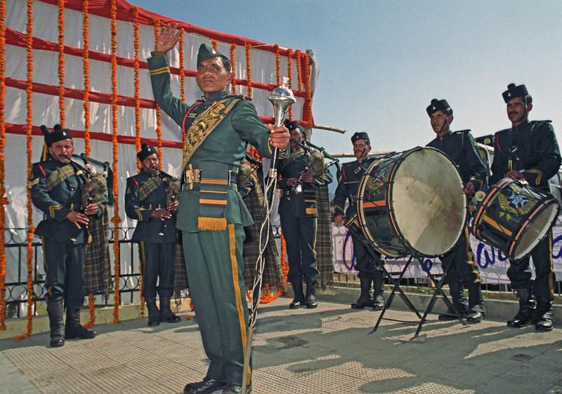 L2749 Garwhal Rifles band, Rishikesh