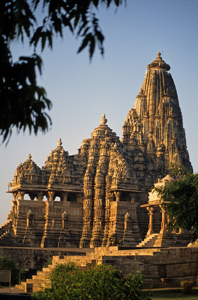 L1965 Kandariya Mahadeva Temple. Between the 9th and 13th centuries, over 150 temples were build at Khajuraho