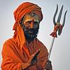 L1910 Sadhu with trishul