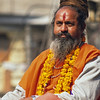 L1872 Mandeleshwara, akhara head, in parade. Kumbha Mela, Allahabad