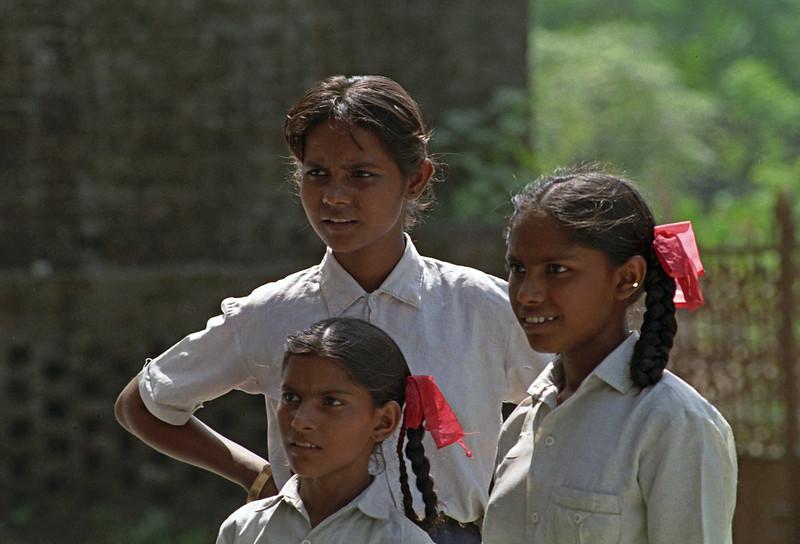 School kids from leper families