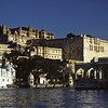 L1510 City Palace at Udaipur from Pichola Lake