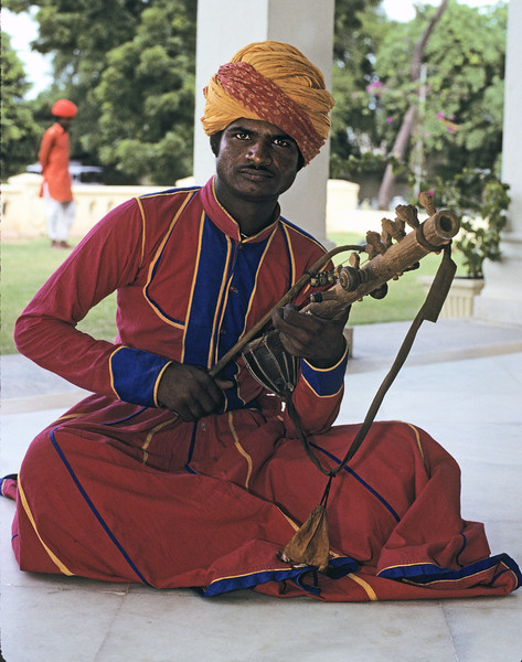 L1711 Rajput musician, Jaipur