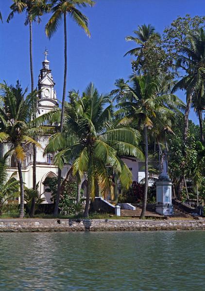 L3019 Christian church in Backwaters area, Trivandrum, Kerala