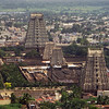 L2366 Tiruvanamalai temple complex, from Arunachala mountaiin. Ramana Maharshi began meditating here when he was 16.