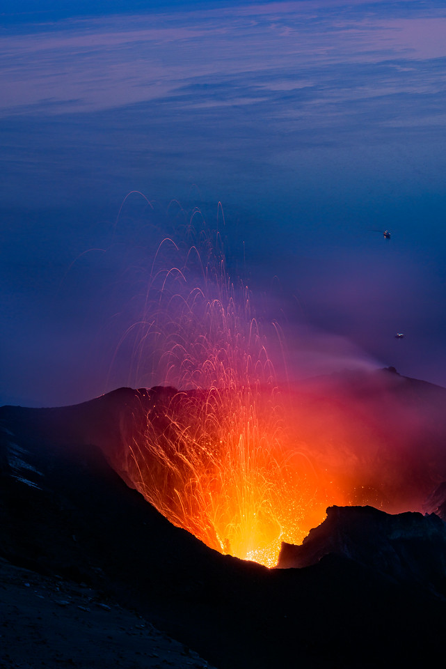 Stromboli Erupts at Bluehour