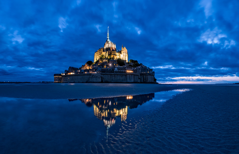 Mont Saint Michelle Blue Hour (Ultra-Hi-Rez-Pano)