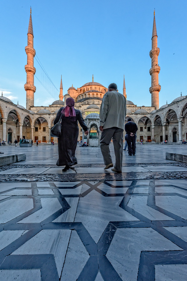 Entering the Blue Mosque