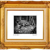 Set of Vintage gold picture frame, isolated