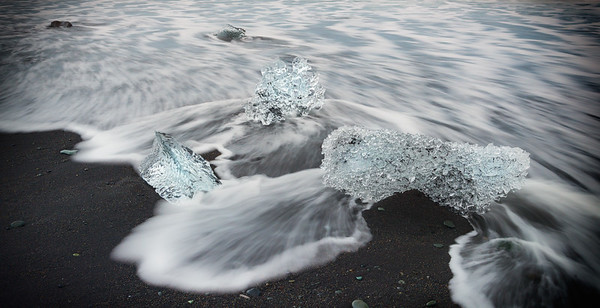 Ice on Black Sand Beach #1
