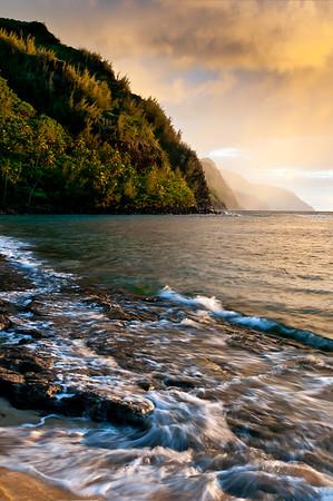 Ke'e Beach Sunset #1