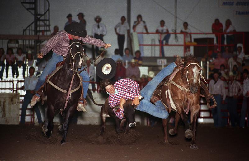 L6265 Steer wrestling. North Dakota State Fair, Williston