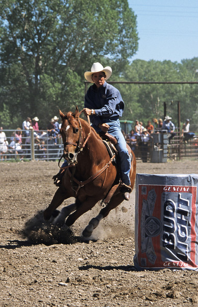L6013 Barrel racing. Choteau, Montana
