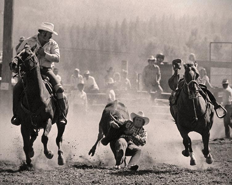 L7011 Steer Wrestling. Plains, Montana