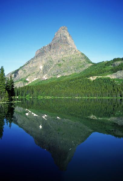 L6163 Grinnell Peak, Swiftcurrent Lake, Many Glacier area